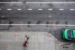 NYC-Straße über Ansicht Stockfoto