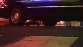 NYC-Straßen, -taxis, -verkehr u. -leute stock video footage