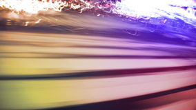 NYC-Straßen, -taxis, -verkehr u. -leute stock video