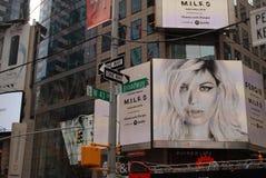 NYC-Straatadvertenties Stock Foto's