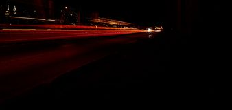 A NYC Streak Of Car Lights Royalty Free Stock Image