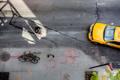 NYC street above view Stock Image