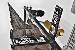 NYC street signs. Stock Image