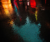 NYC streets after rain with reflections on wet asphalt Royalty Free Stock Photo
