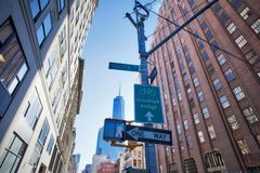 NYC - Streets signs in Manhattan royalty free stock photography