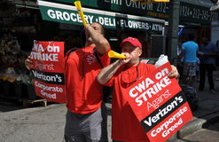 NYC:  Striking Verizon Telephone Workers Royalty Free Stock Photography