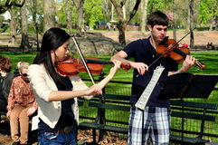 NYC: Student Musicians in Central Park Royalty Free Stock Photos