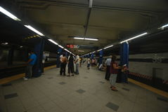 NYC Subway. People are waiting in New York City Subway station Stock Photography
