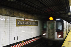 NYC subway. In slow motion Royalty Free Stock Images