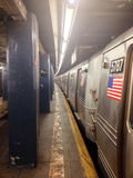 NYC Subway at East Broadway Stock Images
