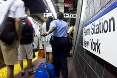 NYC Subway at Penn Royalty Free Stock Photo
