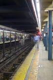 NYC subway platform Royalty Free Stock Image