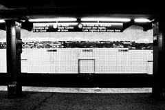 NYC Subway Station, Manhattan, NY stock image