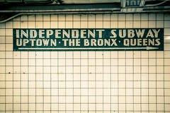 NYC Subway tile wall Royalty Free Stock Images