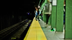 NYC Subway Time Lapse. V12. NYC subway time lapse clip of multiple trains stock footage