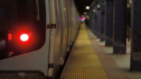 NYC Subway Train Leaving. V4. NYC subway train departing from platform stock video