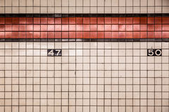 NYC subway wall Stock Photography