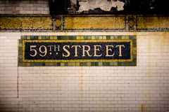 NYC Subway Wall Stock Photo