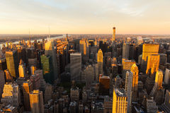 NYC at sunset Stock Photo