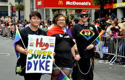 NYC:  Super Dykes at Gay Pride Parade Stock Photo