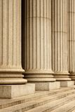 NYC Supreme Court. Columns of the Supreme Court building - New York City, USA Stock Photo