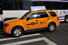 NYC SUV CAB Royalty Free Stock Photo
