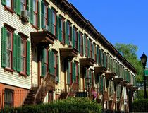 NYC:  Sylvan Row Wooden Homes Stock Photos