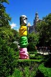 NYC: Sztuki instalacja w urzędu miasta parku Zdjęcia Royalty Free