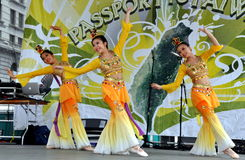 NYC: Taiwanese Dancers at Festival Royalty Free Stock Images