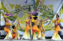 NYC: Taiwanese Dancers at Festival Stock Photos