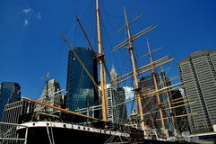 NYC: Tall Ship Peking at South Street Seaport Royalty Free Stock Images