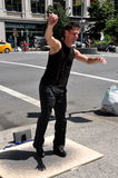 NYC: Tap Dancer on Broadway Stock Image