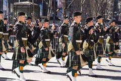 The 2015 NYC Tartan Day Parade 13 Royalty Free Stock Photography