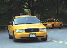 NYC Taxi Cabs. Yellow cabs in New York's Royalty Free Stock Image