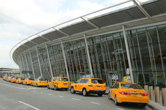 NYC taxi at Delta Airline Terminal 4 at JFK International Airport in New York. Stock Image
