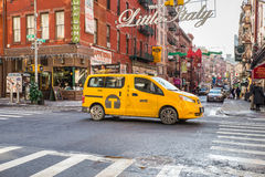 NYC Taxi Little Italy royalty free stock photo