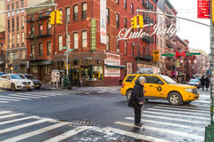 NYC Taxi Little Italy royalty free stock images