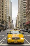 NYC taxi on the streets of Manhattan Stock Images