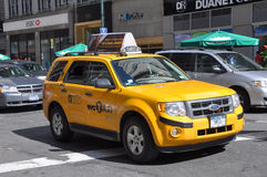 NYC Taxi, yellow cab in New York City Stock Photo