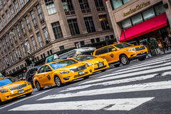 NYC Taxicabs Stock Image