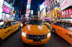 NYC taxis Royalty Free Stock Photo