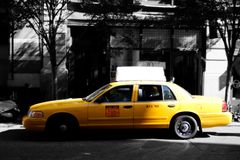 Nyc taxy. Yellow cab in NYC royalty free stock photos