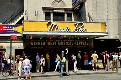 NYC: Teatro di Music Box Fotografia Stock