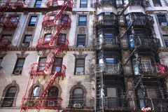 NYC Tenements Apartments Stock Image