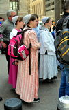 NYC:  Three Mennonite Women Royalty Free Stock Images
