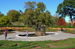 NYC: Three Muses Fountain Stock Photos