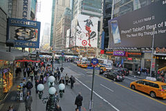 NYC TIMES SQUARE. Times Square in NYC is also known as The Crossroads Of  The World Stock Photography