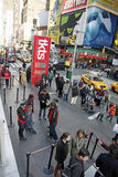TIMES SQUARE, NYC. Times Square in NYC is also known as The Crossroads Of  The World Royalty Free Stock Photos