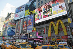 TIMES SQUARE, NYC. Times Square in NYC is also known as The Crossroads Of  The World Royalty Free Stock Photo