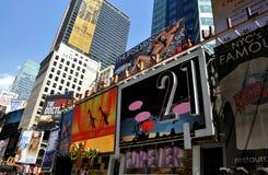 NYC: Times Square-Anschlagtafeln Lizenzfreies Stockbild